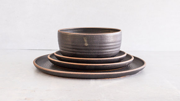 Midnight [Exposed] - Full Place Setting (4 Piece)