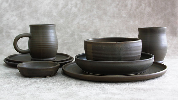 Charcoal - Deluxe Place Setting (8 Piece) (Wholesale)