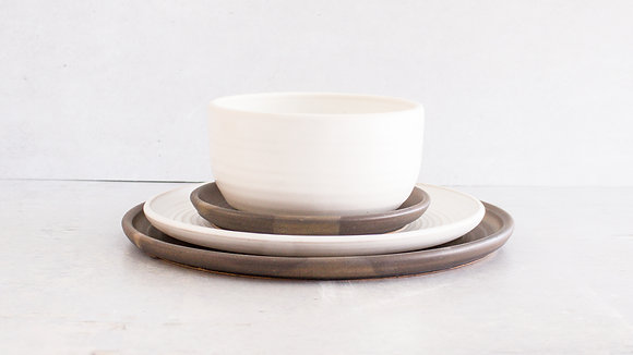 Charcoal | Moonstone - Full Place Setting (4 Piece)