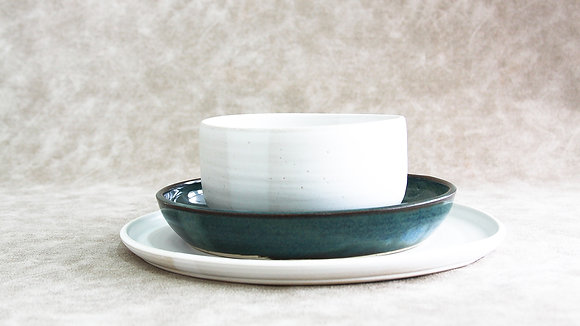 Moonstone | Woo's Blue - Simple Place Setting (3 Piece) (Wholesale)