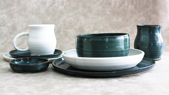 Woo's Blue | Moonstone - Deluxe Place Setting (8 Piece) (Wholesale)