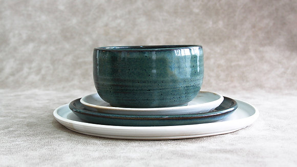Woo's Blue | Moonstone - Full Place Setting (4 Piece) (Wholesale)