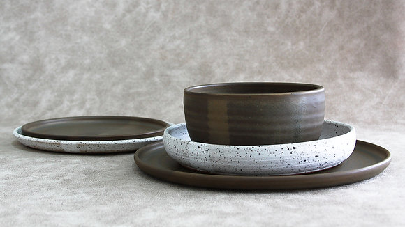 Charcoal | Dalmatian - King Place Setting (5 Piece) (Wholesale)