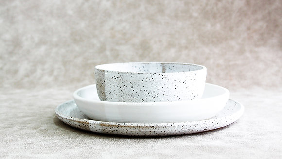 Dalmatian | Moonstone - Simple Place Setting (3 Piece) (Wholesale)