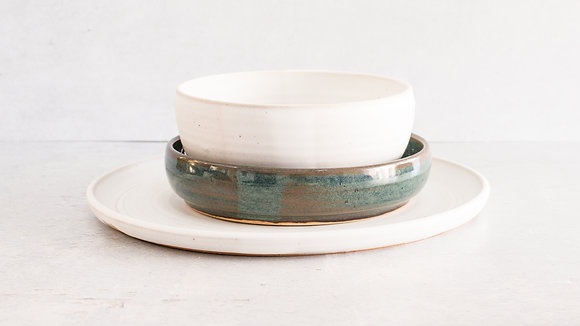 Moonstone | Woo's Blue - Simple Place Setting (3 Piece)