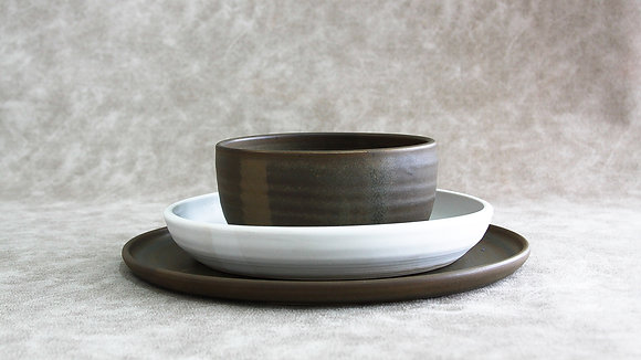 Charcoal | Moonstone - Simple Place Setting (3 Piece)