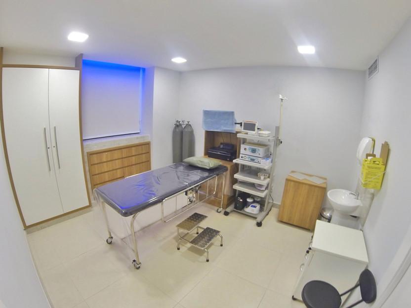 Sala de Exame. Endoscopia e Colonoscopia. Clínica Medical Gastro