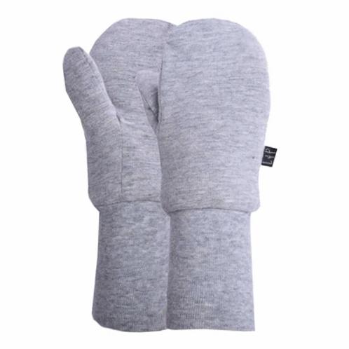 Mitaine mi-saison coton gris -  L&P