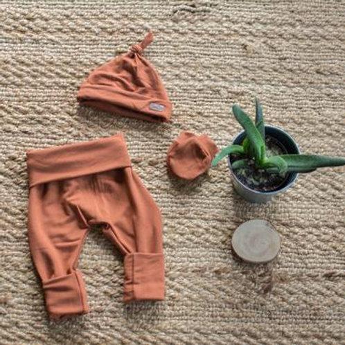 Pantalons Nouveau-né rouille - Mamie&cie