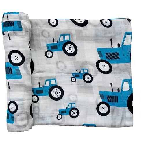 Couverture mousseline Tracteurs - Doux bécot