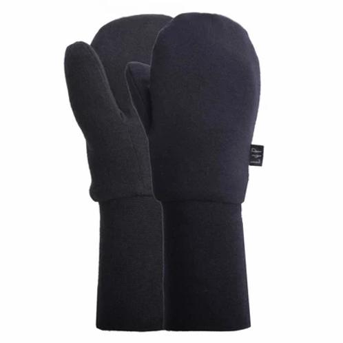Mitaine mi-saison coton noir - L&P
