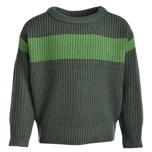 Chandail en tricot Mallow(Vert pickle) - L&P