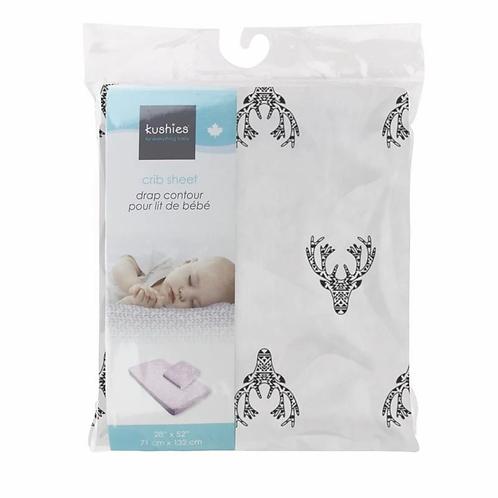 Drap contour lit de bébé motifs(Couleurs variées) -  Kushies