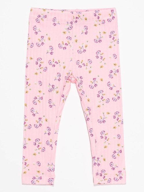 Legging fleuris rose