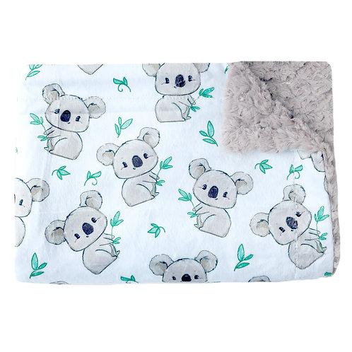 Couverture minky koalas - Doux bécots