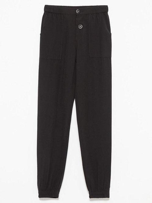 Pantalon à taille haute élastique - M.I.D.