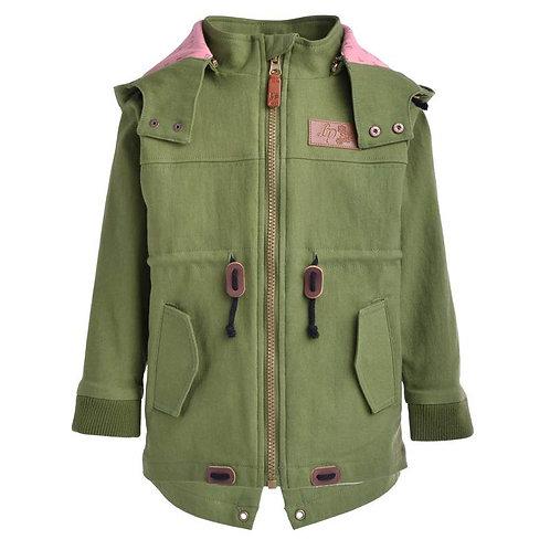 Manteau de ville pour fille Vert roseau -  L&P