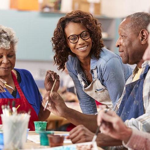 group-retired-seniors-attending-art-clas