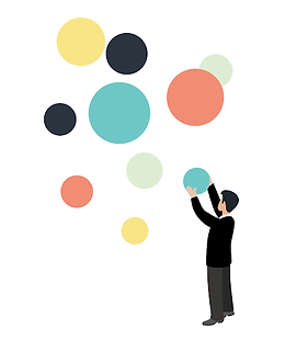 Man with circles