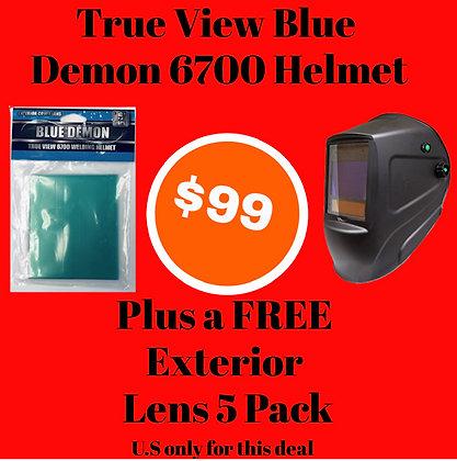 True View 6700 Welding Helmet, free 5 pack exterior lens
