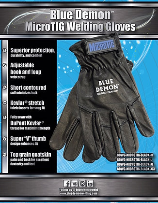 Blue Demon Micro-TIG welding glove, BLACK