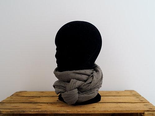 Grand foulard Plume kaki