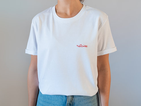T-shirt Rétais(e) coquelicot x brodé main