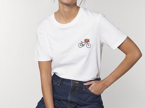 """T-shirt """"Bicyclette à fleurs"""""""