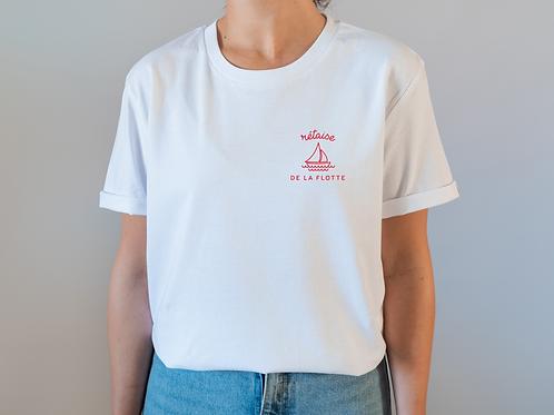 T-shirt rétais(e) de la Flotte X brodé main