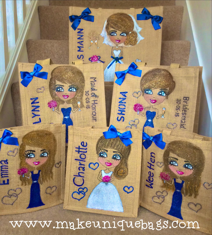 Personalised bridesmai tote bags