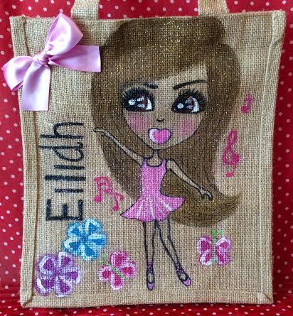 small personalised dancer jute bag