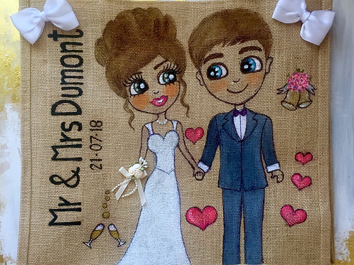 Couple Personalised Tote Bags