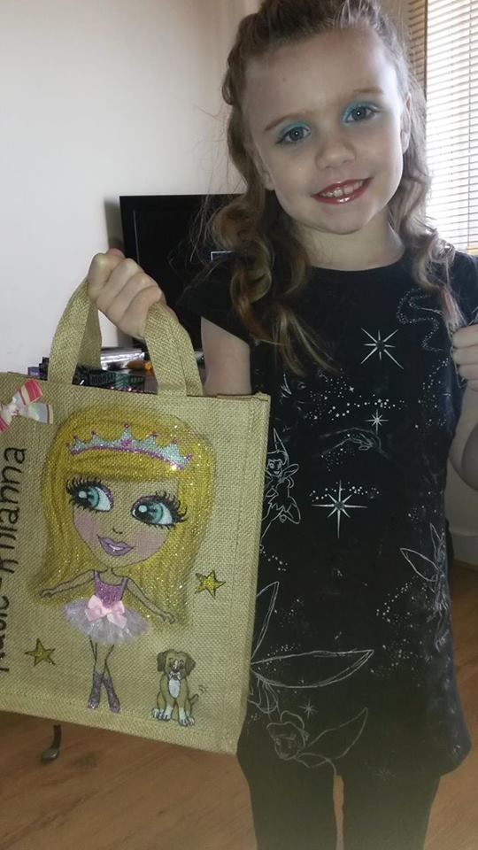 ballerina personalised jute bag