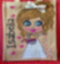 personalised flower girl jute bag