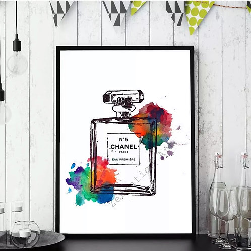 Chanel No 5 Print Perfume Wall Art Home Decor Picture