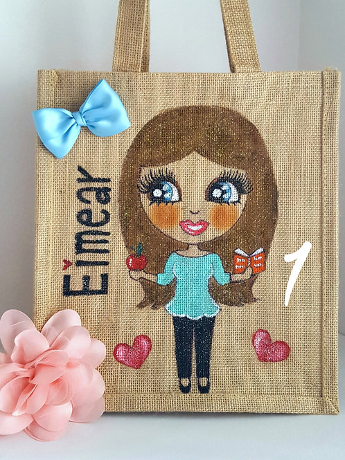 Love Teacher Personalised Small Jute Bag 2 for £28