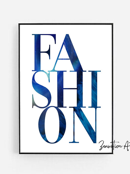 FASHION Typography picture prints wall art poster