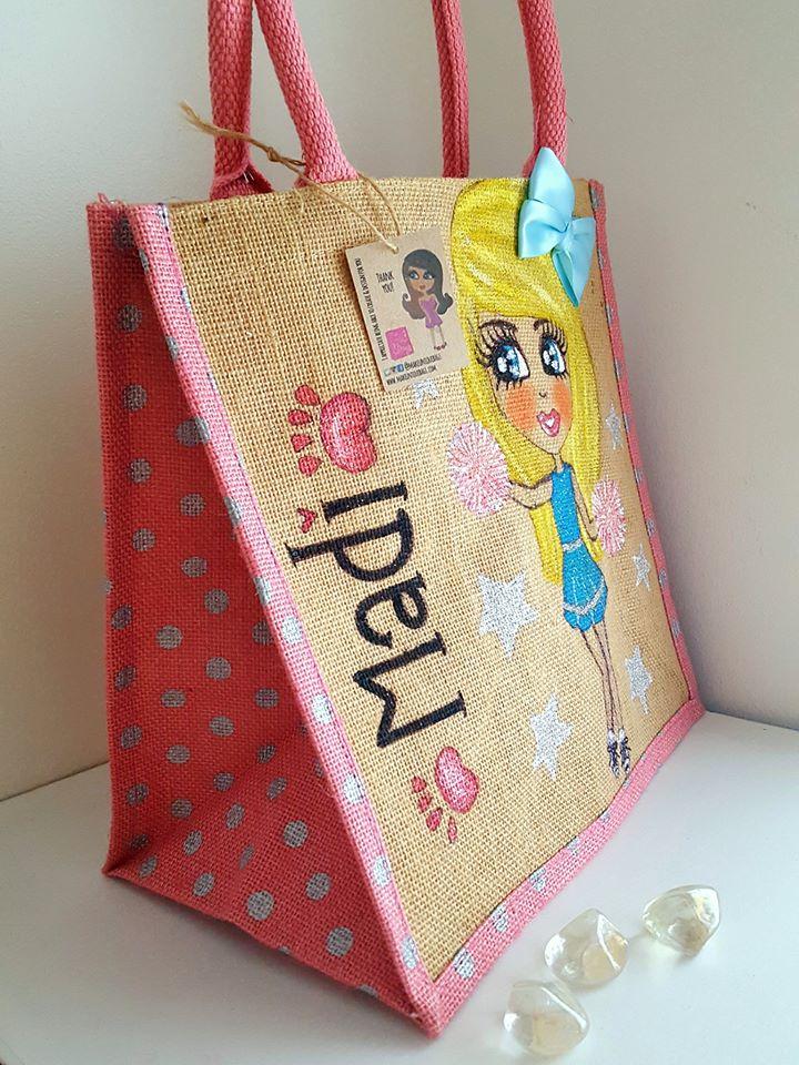 cheerleader personalised jute bag