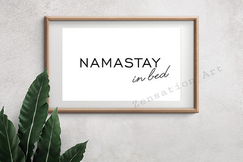 NAMASTAY In Bed Wall Art Poster Prints