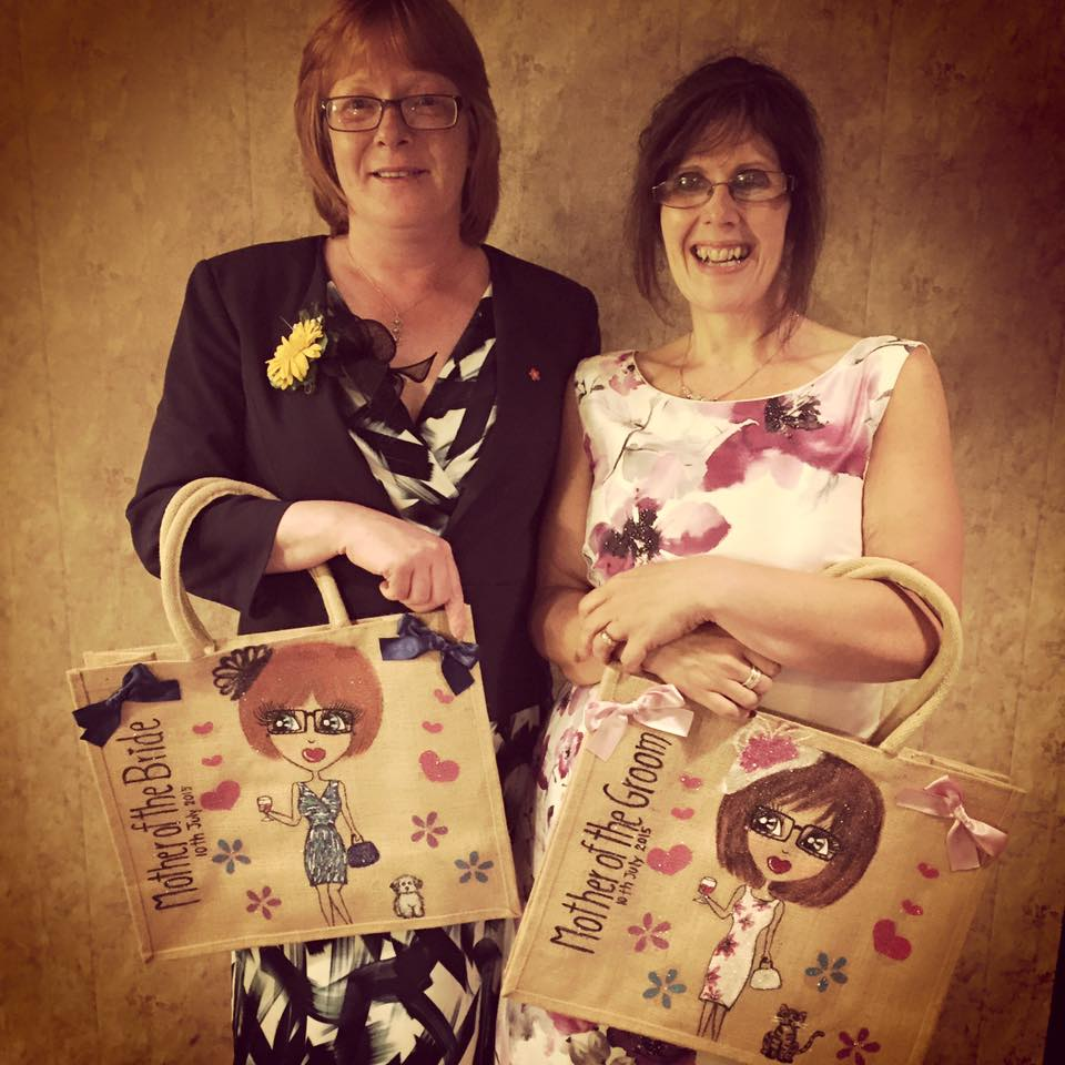 bridesmaids personalised jute bag