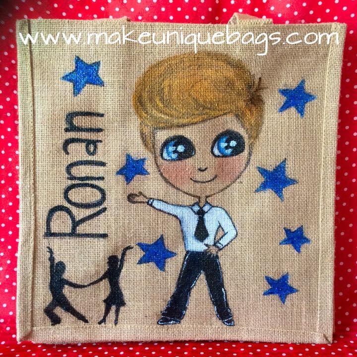 Medium personalised dancer jute bag