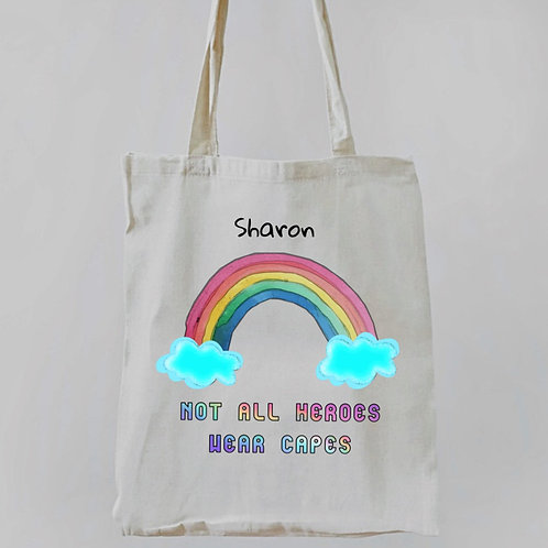 Personalised Tote Bag Not All Heroes Wear Capes
