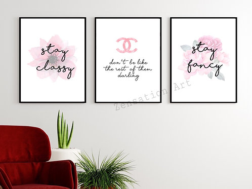 Set of 3 Don't be like the rest of them darling Classy & FancyTheme
