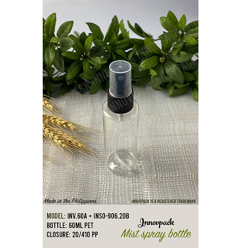 60 ML ROUND CYLINDRICAL BOTTLE WITH MIST SPRAY 153PCS X 9.19 PHP/PC