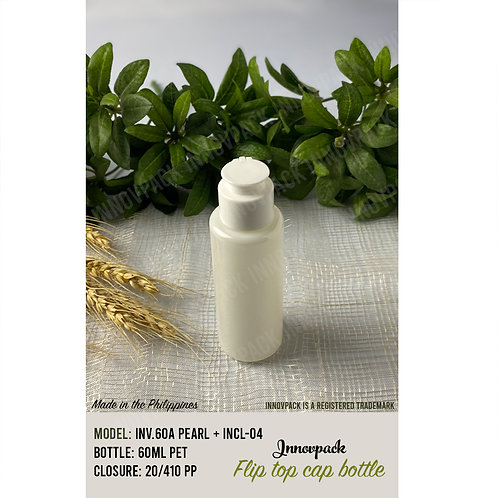 60 ML ROUND CYLINDRICAL BOTTLE WITH SPECIAL FLIP TOP CAP 153PCS X 8.83 PHP/PC