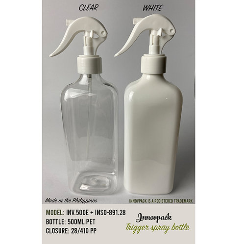 500 ML RECTANGLE BOTTLE WITH MINI TRIGGER 160PCS X 21.84 OR 22.59 PHP/PC