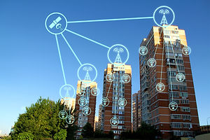 IOT, Internet smart city and network con