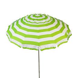 1121 Lime and White Umbrella