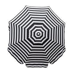 Italian 7.5 Black & White Stripe Umbrella