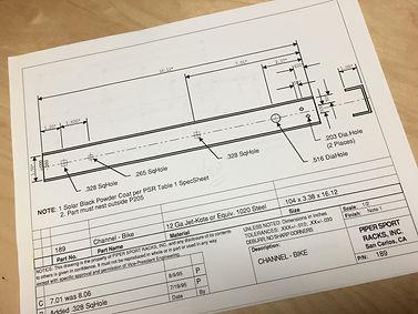Product design sheet